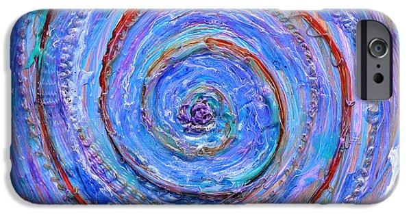 Storm Reliefs iPhone Cases - Coriolis 3 iPhone Case by Regina Valluzzi
