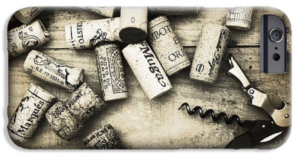 Vintage Wine Lovers Photographs iPhone Cases - Corked iPhone Case by Clare Bevan