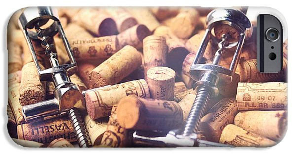 Winetasting iPhone Cases - Corks and Corkscrews  iPhone Case by Stefano Senise
