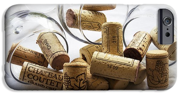 Table Wine iPhone Cases - Corks and Glasses iPhone Case by Nomad Art And  Design