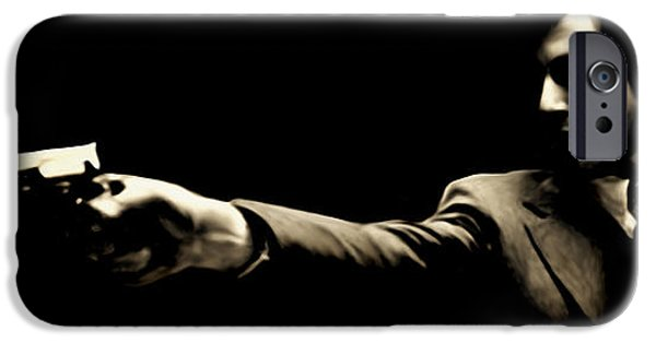 Michael Corleone Digital iPhone Cases - Corleone iPhone Case by Laurence Adamson