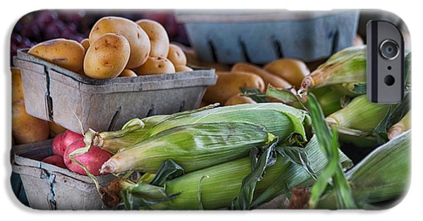 Farm Stand Photographs iPhone Cases - Corn and Potatoes iPhone Case by Lauri Novak