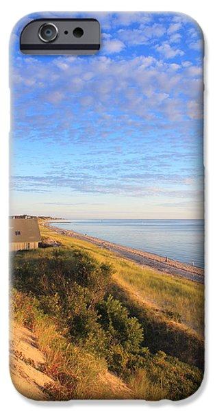 Massachusetts Coast iPhone Cases - Corn Hill Beach Cape Cod Bay Truro iPhone Case by John Burk