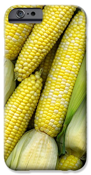 Scanography iPhone Cases - Corn on the Cob II iPhone Case by Tom Mc Nemar