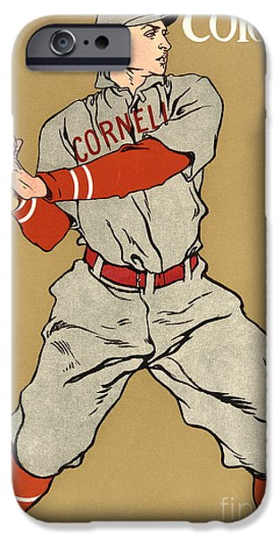Padre Art iPhone Cases - Cornell Baseball 1908 iPhone Case by Padre Art