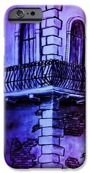 First Term iPhone Cases - Corner Balcony in Italy iPhone Case by Irving Starr