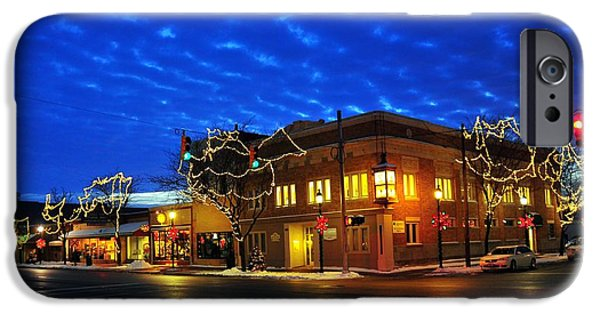 Clare Michigan iPhone Cases - Corner of McEwan and 4th Street iPhone Case by Terri Gostola
