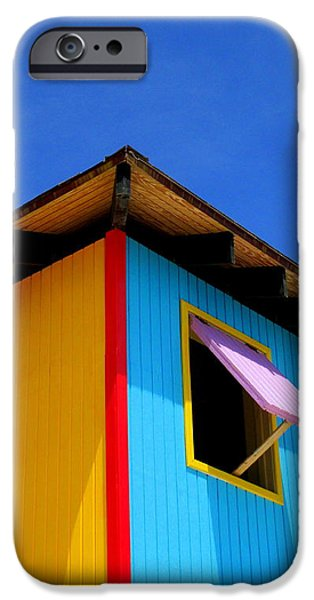 Half Moon Cay iPhone Cases - Corner Pink Shutter iPhone Case by Randall Weidner