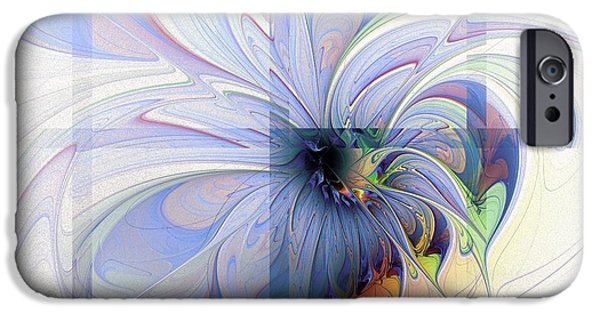 Floral Digital Art Digital Art Digital Art iPhone Cases - Cornered iPhone Case by Amanda Moore