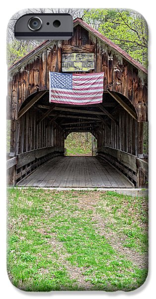 Tea Party iPhone Cases - Cornish Covered Bridge iPhone Case by Edward Fielding
