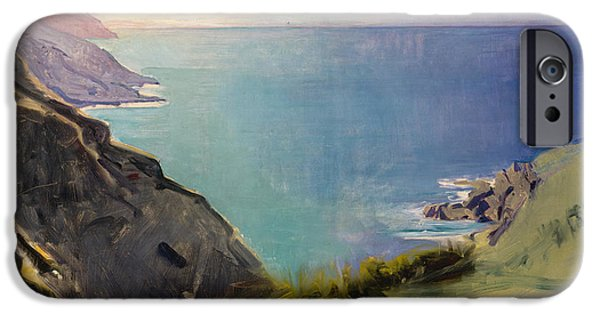 Abbott Handerson Thayer iPhone Cases - Cornish Headlands iPhone Case by Celestial Images