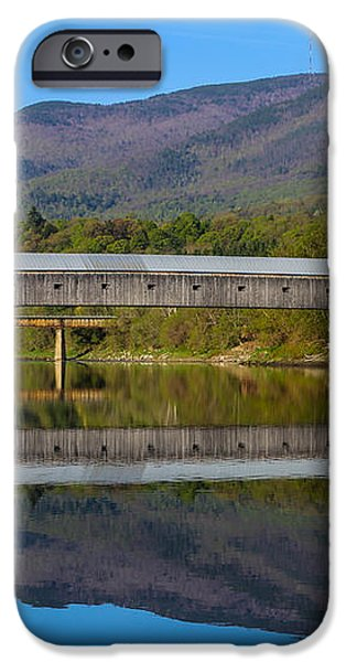 Cornish Windsor Covered Bridge iPhone Case by Edward Fielding
