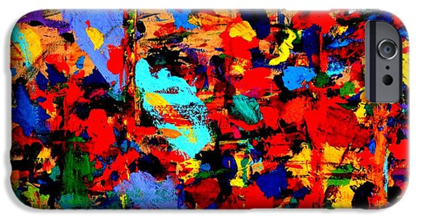 Abstract Expressionism iPhone Cases - Cornucopia I  iPhone Case by John  Nolan