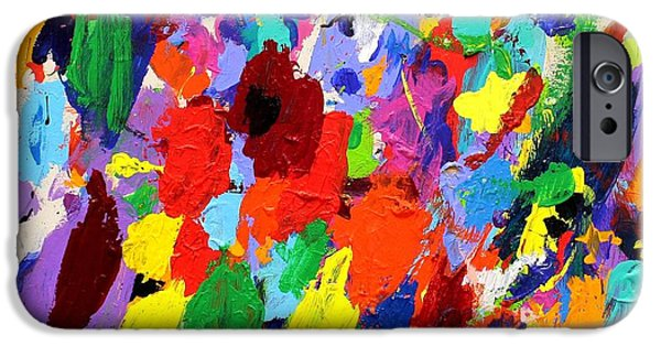 Red Abstract iPhone Cases - Cornucopia Of Colour I iPhone Case by John  Nolan