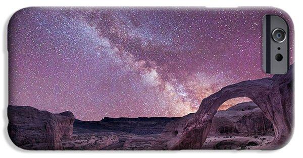 Michael Versprill iPhone Cases - Corona Arch Milky Way iPhone Case by Michael Ver Sprill