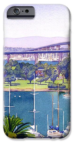 Coronado Bay Bridge iPhone Case by Mary Helmreich