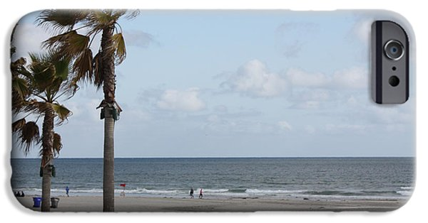 Tree Art Print iPhone Cases - Coronado Beach in San Diego iPhone Case by John Telfer