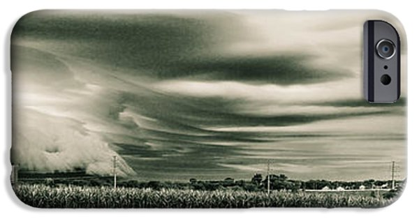 Business Digital iPhone Cases - Corporate Existance amongst the Farmland iPhone Case by Jim Finch