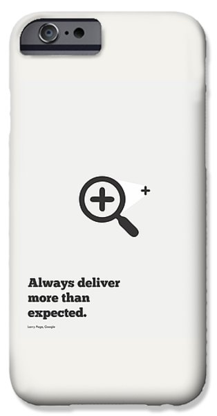 Business Digital iPhone Cases - Larry Page Corporate Startup Quotes Poster iPhone Case by Lab No 4 - The Quotography Department