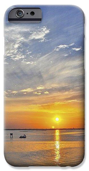 Hallmark Greeting Card iPhone Cases - Corpus Christi Sunset iPhone Case by Kristina Deane