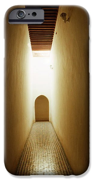 The Way Forward iPhone Cases - Corridor Inside The Bahia Palace iPhone Case by Panoramic Images
