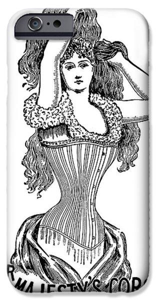 Big Hair iPhone Cases - Corset Advertisement  1897 iPhone Case by Daniel Hagerman