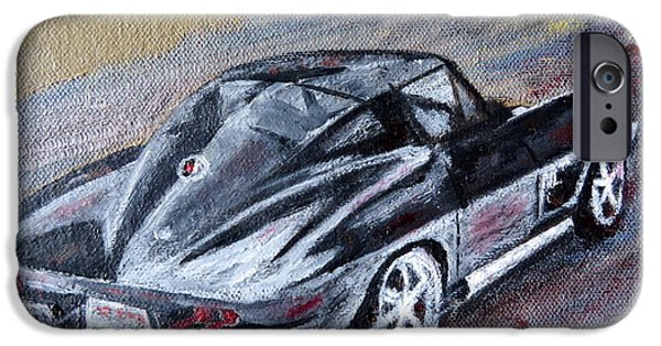 Disc iPhone Cases - Corvette 1965 iPhone Case by Daniel Gomez