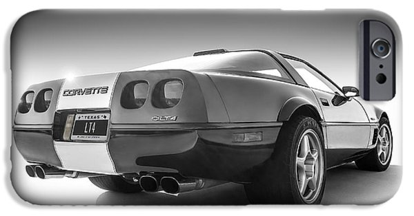 Stripes Digital Art iPhone Cases - Corvette C4 iPhone Case by Douglas Pittman