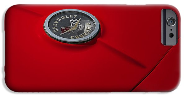 Custom Made iPhone Cases - Corvette Chevy Antique iPhone Case by Susan Candelario