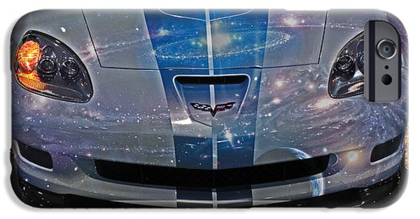 Out Of This World iPhone Cases - Corvette is Out of This World iPhone Case by Tom Gari Gallery-Three-Photography