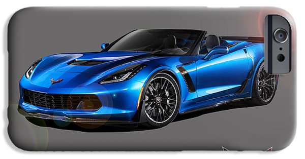 Recently Sold -  - Abstract Digital Art iPhone Cases - Corvette Z06 Convertible iPhone Case by Gregory Murray
