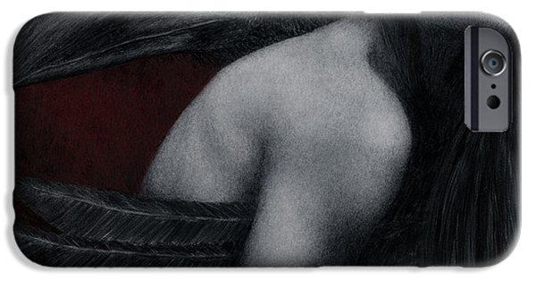 Symbolism iPhone Cases - Corvidae iPhone Case by Pat Erickson