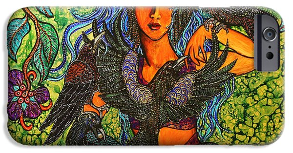 Recently Sold -  - Figures iPhone Cases - Corvidas Garden iPhone Case by Melissa Cole