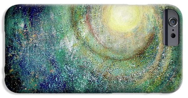 Outer Space Pastels iPhone Cases - Cosmic Breath iPhone Case by NARI - Mother Earth Spirit