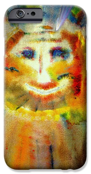 Macrocosm iPhone Cases - Cosmic Caricature iPhone Case by Kathy Bassett