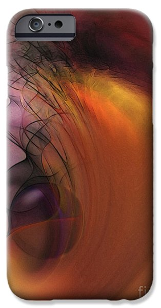 Abstract Expressionism iPhone Cases - Cosmic iPhone Case by Karin Kuhlmann