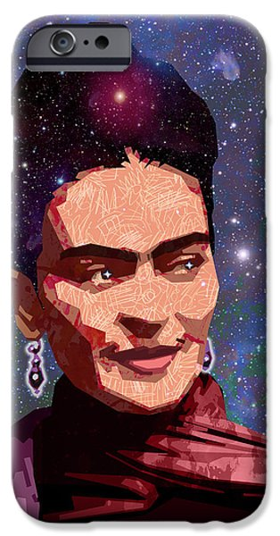 Diego Rivera iPhone Cases - Cosmic Frida iPhone Case by Douglas Simonson