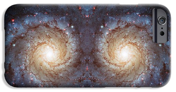The Hatchery iPhone Cases - Cosmic Galaxy Reflection iPhone Case by The  Vault - Jennifer Rondinelli Reilly