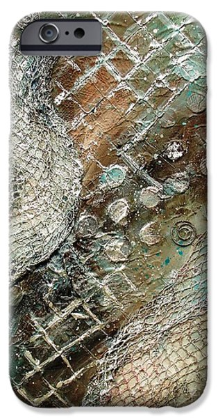 Netting Mixed Media iPhone Cases - Silvered Salmon iPhone Case by Phyllis Howard