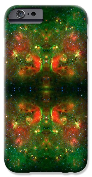 Cosmic Kaleidoscope 3 iPhone Case by The  Vault - Jennifer Rondinelli Reilly