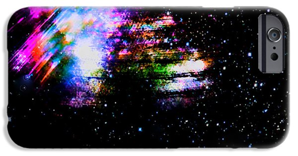 Buildings Mixed Media iPhone Cases - Cosmic Love Eight iPhone Case by Sir Josef  Putsche