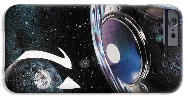 Michelle Mixed Media iPhone Cases - Cosmic iPhone Case by Michelle L Bolin