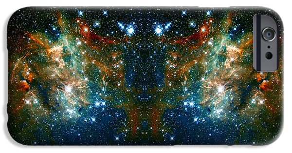The Hatchery iPhone Cases - Cosmic Phoenix  iPhone Case by The  Vault - Jennifer Rondinelli Reilly