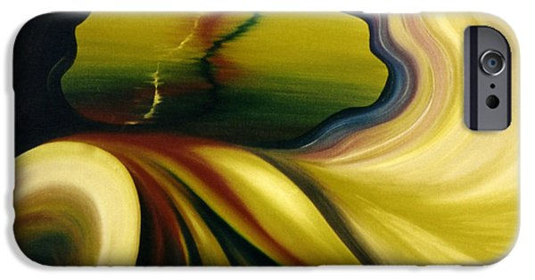 Outer Space Paintings iPhone Cases - Cosmic Portal iPhone Case by Glenda Stevens