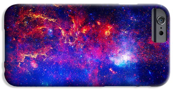 Cosmic Paintings iPhone Cases - Cosmic Storm in The Milky Way iPhone Case by Celestial Images