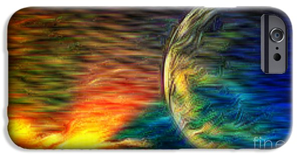 Michael Mixed Media iPhone Cases - Cosmic Strom iPhone Case by M and L Creations