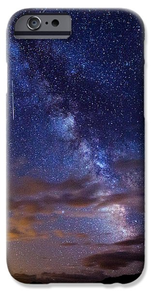 Cosmic Traveler  iPhone Case by Darren  White