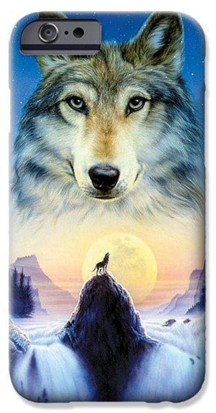 Animals Photographs iPhone Cases - Cosmic Wolf iPhone Case by Andrew Farley