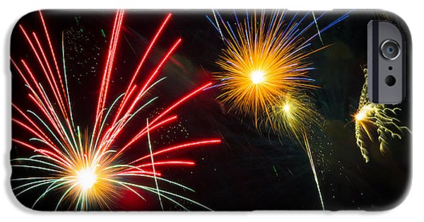 July 4th iPhone Cases - Cosmos Fireworks iPhone Case by Inge Johnsson