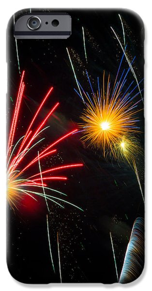 Cosmos Fireworks iPhone Case by Inge Johnsson